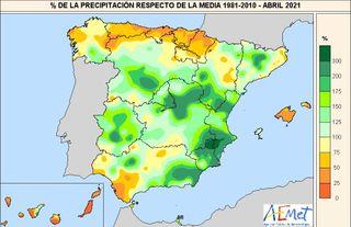 Abril de 2021 en España, un mes en la media