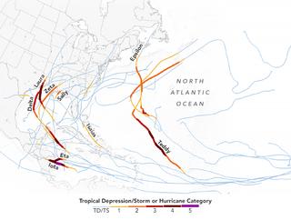Abundancia destructiva de tormentas tropicales en el Atlántico