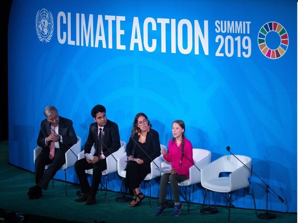 En la reunión sobre la acción climático acudió la activista Greta Thunberg. Fuente: EFE