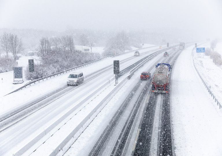 Glätte durch Schnee