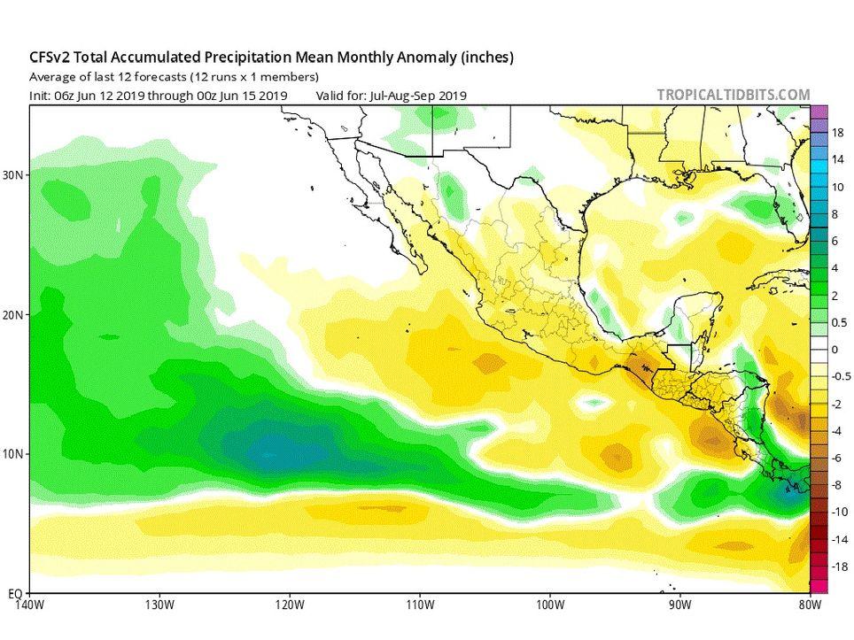 Modelo Climático CFSv2 de precipitaciones