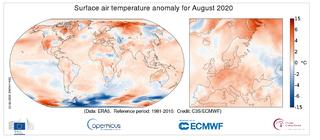 Agosto de 2020 a nivel global: el cuarto más caluroso