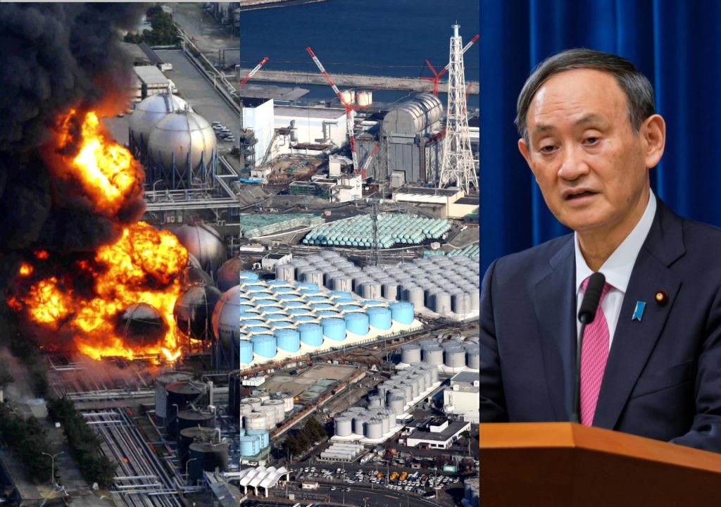 According to Prime Minister Yoshihide Suga, radioactive water will be poured into the Pacific Ocean to resolve the buildup at the nuclear facilities at the Fukushima plant. (images: disclosure / anonymous)
