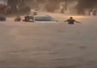 Rain caused heavy flooding in Guayaquil, Ecuador