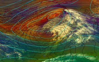 Ahora ciclogénesis mediterránea con chubascos intensos