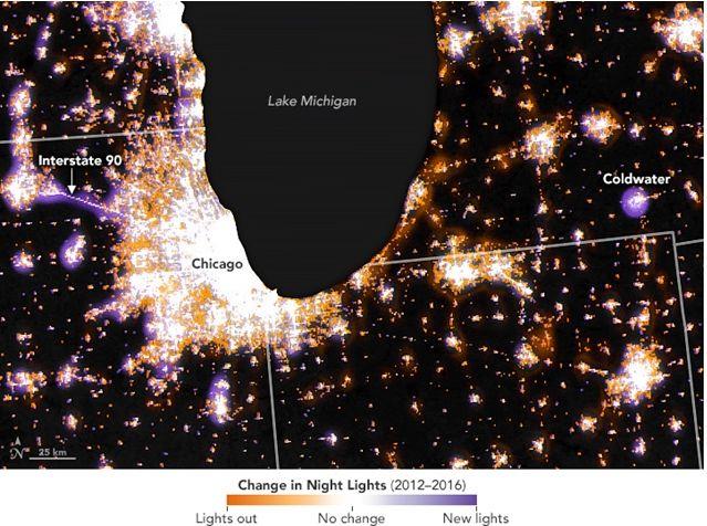 Analizando Los Cambios En Las Luces Nocturnas