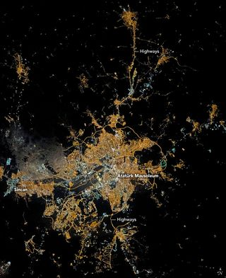 Ankara en la noche