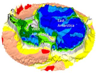 Antiguos continentes bajo el hielo de la Antártida
