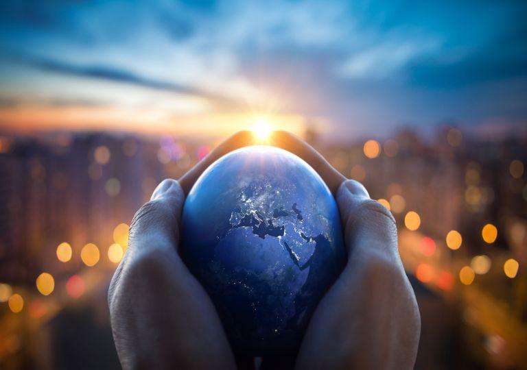 planeta Terra; poluição; luz solar