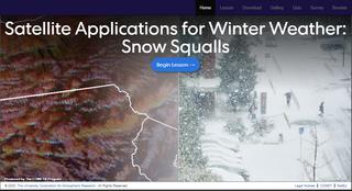 Aplicaciones de satélite para el tiempo invernal: tormentas de nieve
