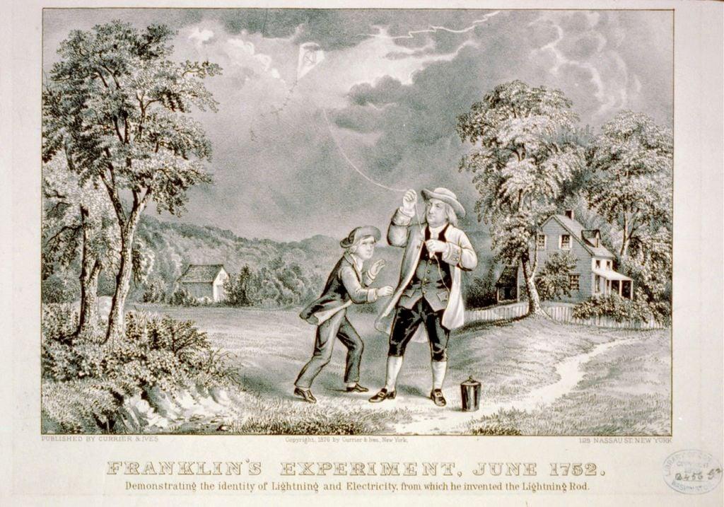 Franklin y la cometa