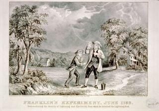 Aportaciones de Franklin a la Meteorología, 'el cazador de rayos'