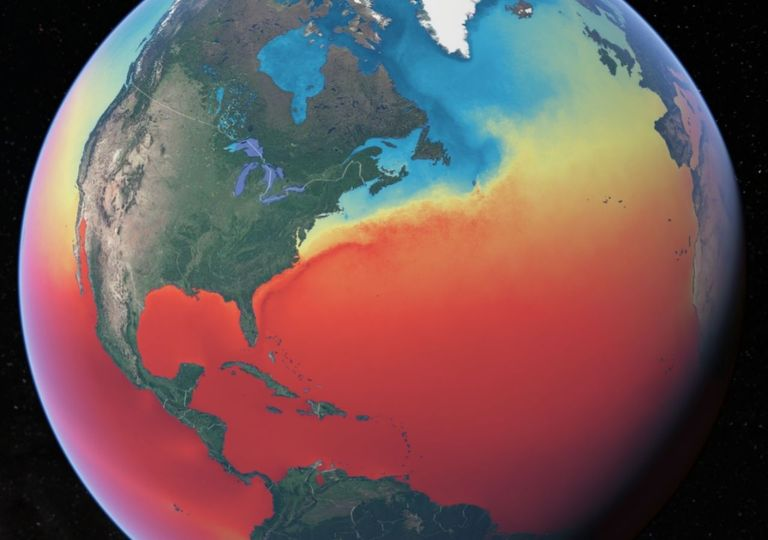 temperatura da superfície do oceano
