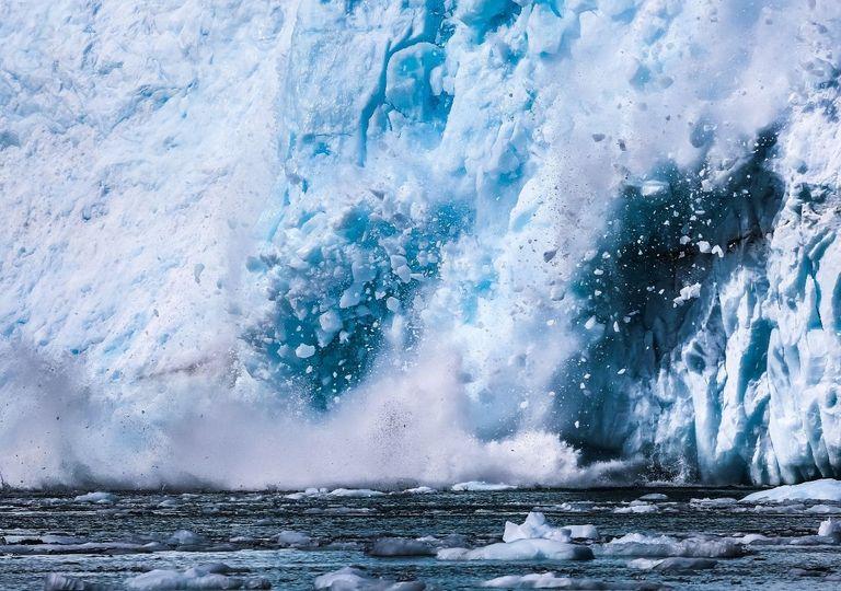 Calor no Ártico e o degelo na Groenlândia.