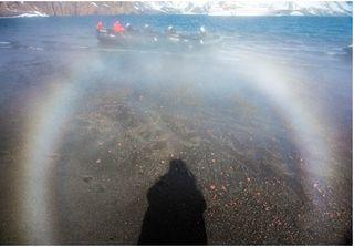 Arco de vapor volcánico antártico
