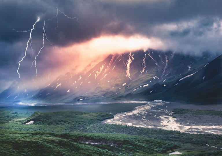 Lightning is suspected to be the cause of record wildfires in Alaska