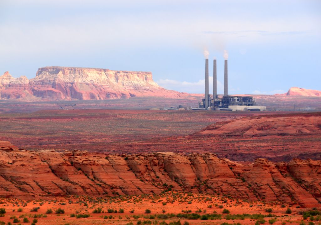 Central de energía con emisiones de Metano