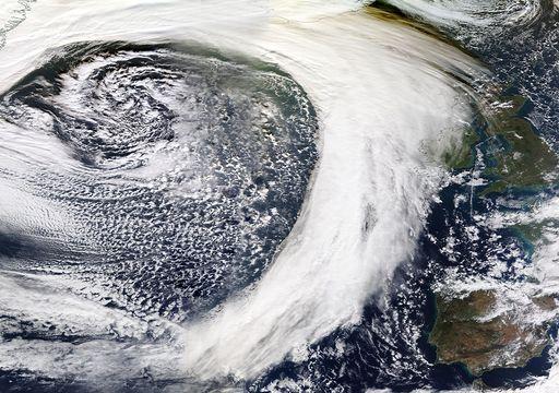 Así es la enorme borrasca con aire polar que abrirá paso a las lluvias