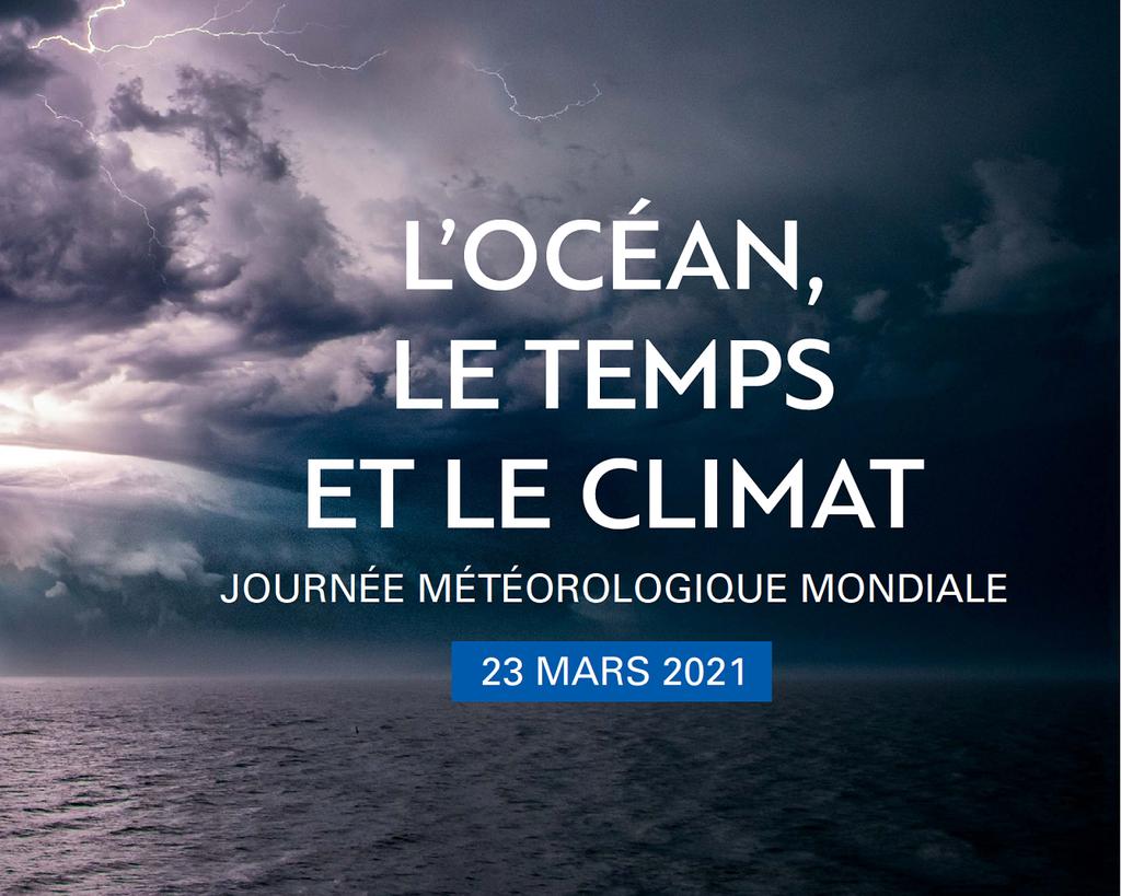 """Le thème retenu pour cette Journée météorologique mondiale est l'océan, le """"moteur"""" de la planète (visuel 2021)."""