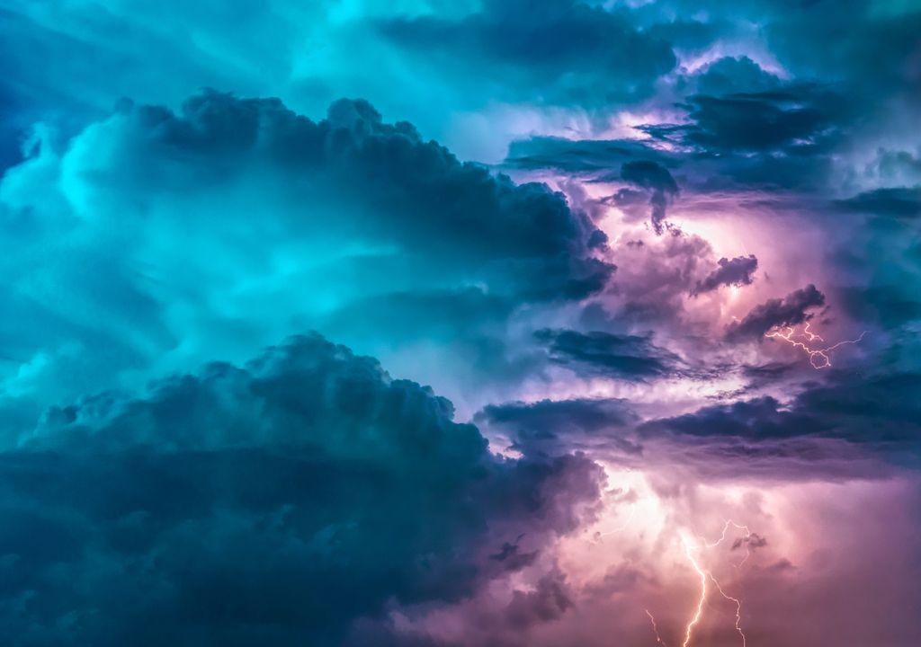 tormenta eléctrica rayo