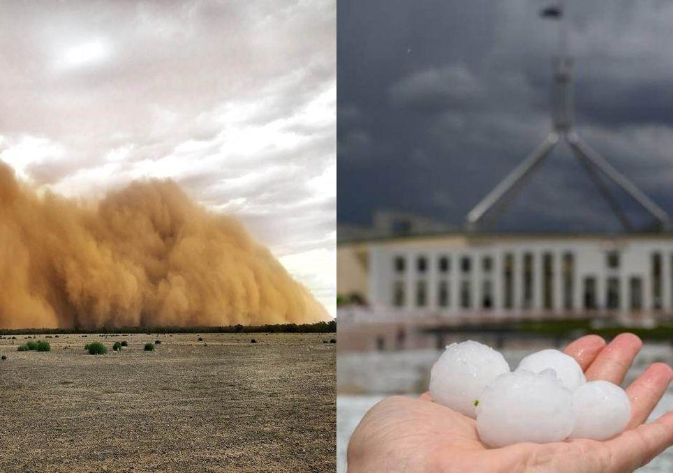 Australia, granizo, tempestade, sandstorm