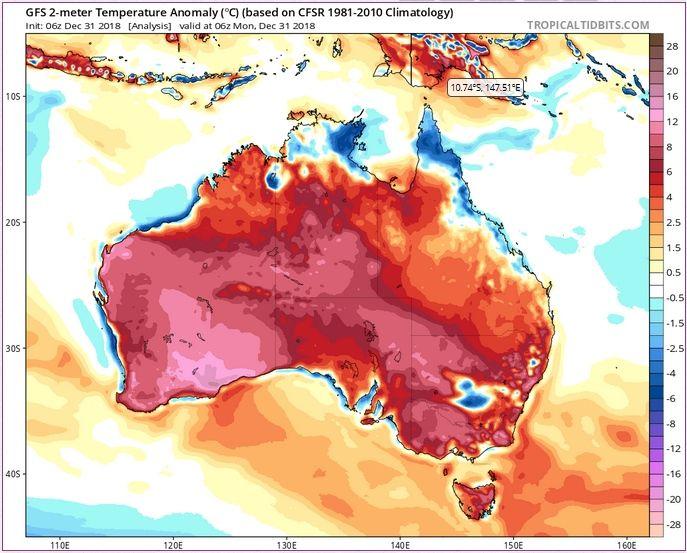 Australia Sumida En Ola De Calor Récord