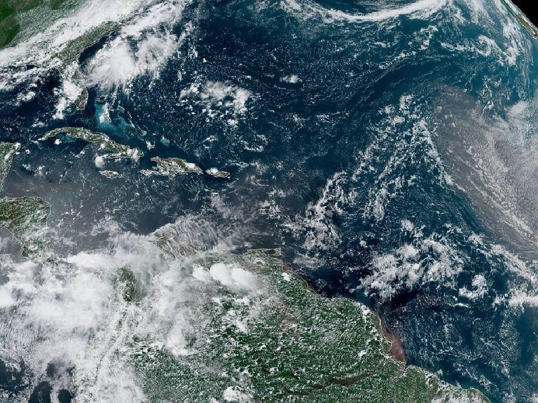 Imagen del satélite GOES Este, NASA. 23 de julio de 2019