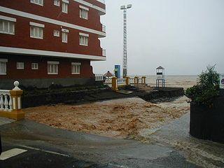 Barrancos y playas de Gran Canarias después de las lluvias del 23-24 enero de 2006
