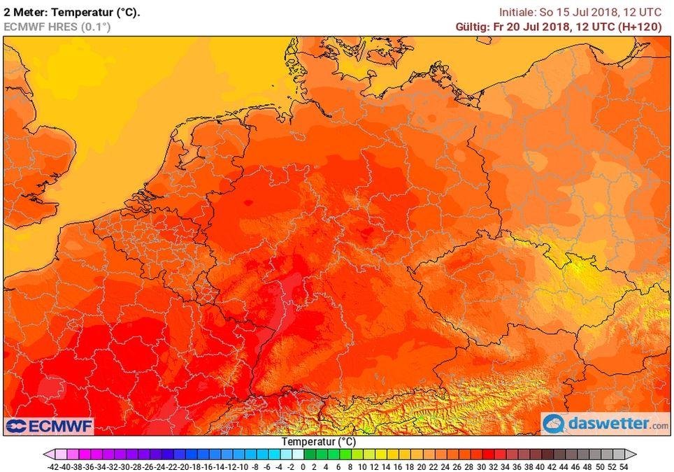 Viel Hitze in Deutschland