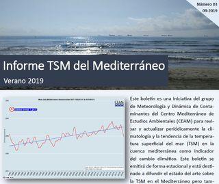 Boletín temperatura del mar Mediterráneo. Número 3 - Verano 2019