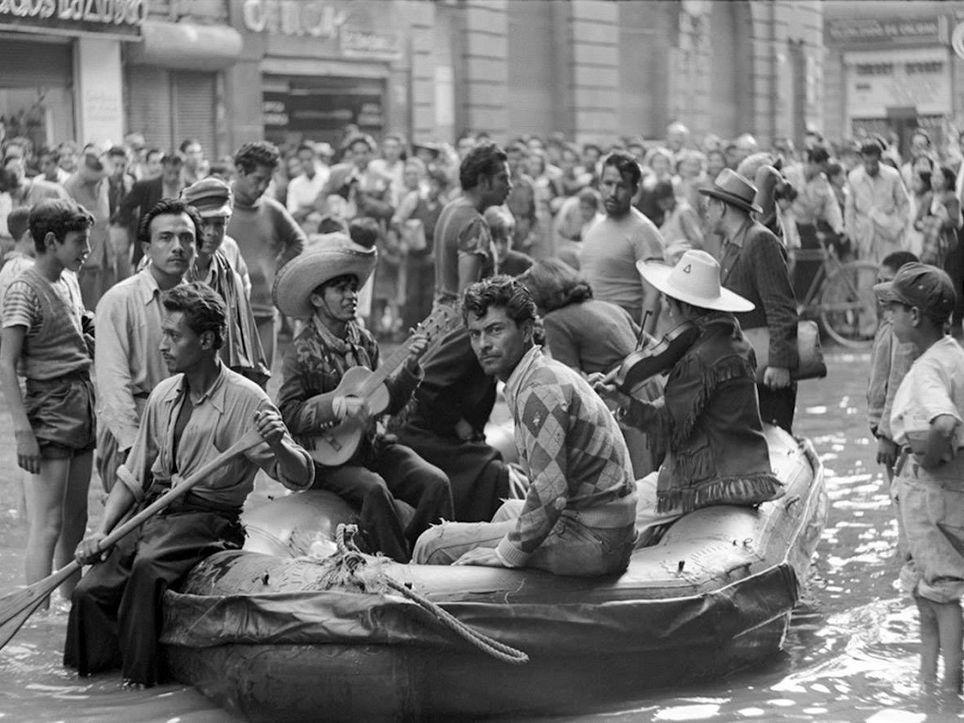 Inundación en la Ciudad de México en 1951.