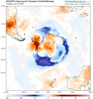 Calentamiento asimétrico en la Antártida