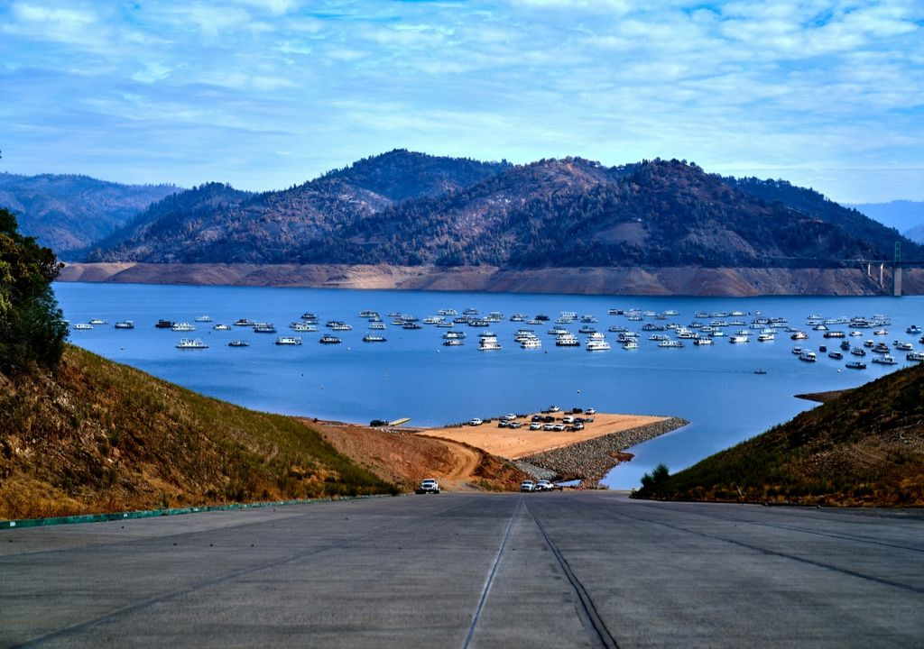 Lake Oroville, California's second-largest reservoir.