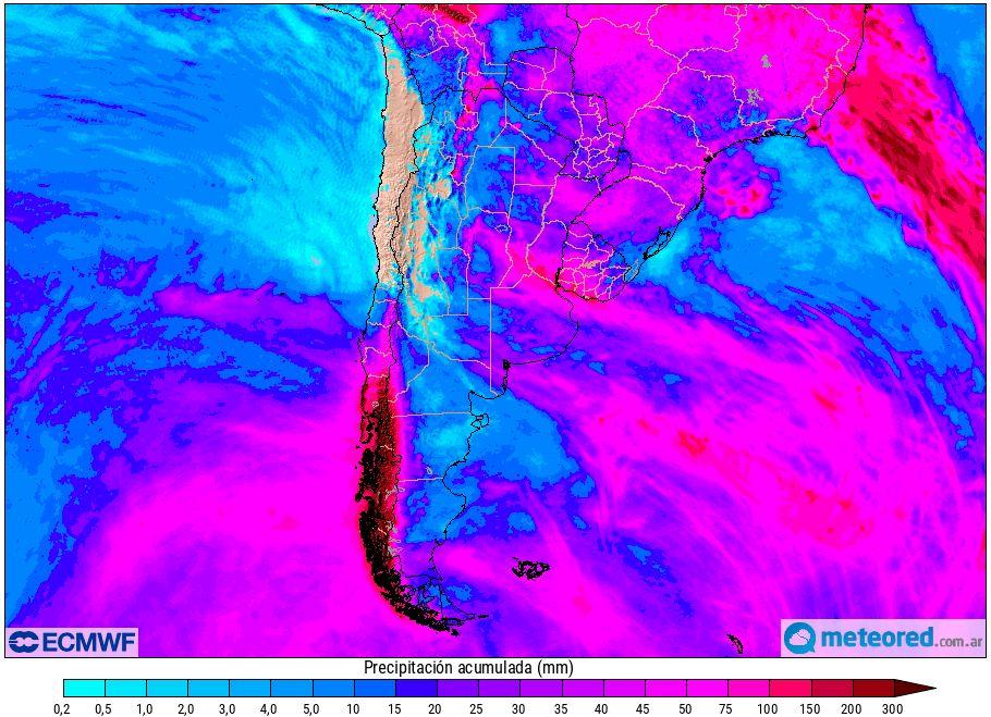 Lluvias Modelo europeo Argentina Pronóstico