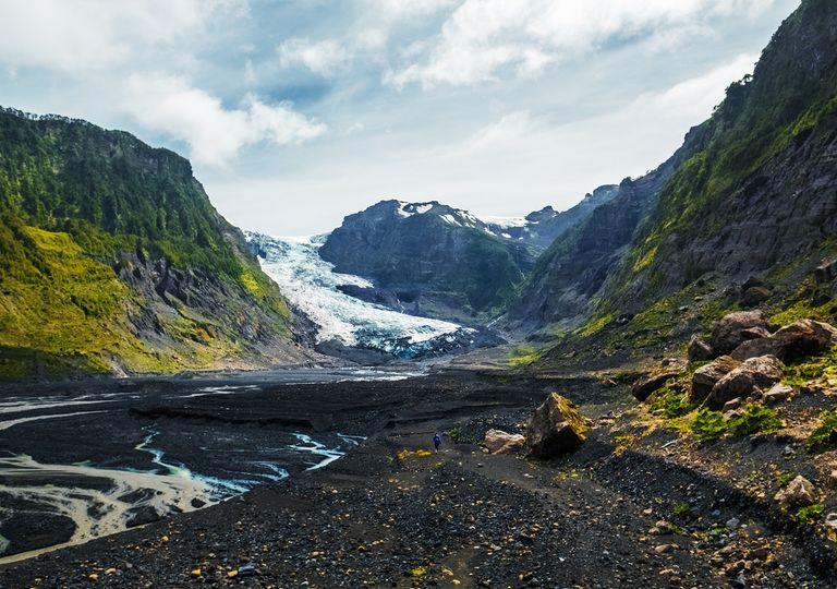 Glaciar en cordillera de Los Andes