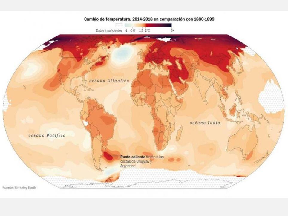 Cambio climático Río de la Plata Uruguay Argentina Almeja