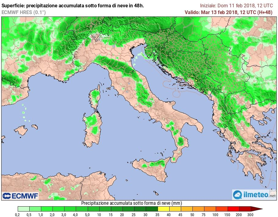 Maltempo: in Campania neve in arrivo
