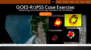 Caso de estudio sobre incendios desde GOES-R / JPSS