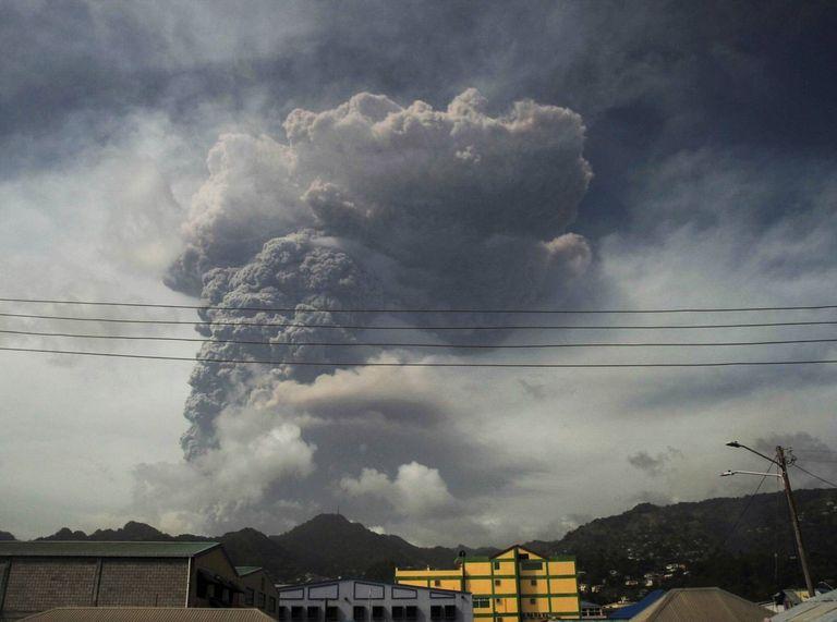 Erupción volcánica de La Soufrière