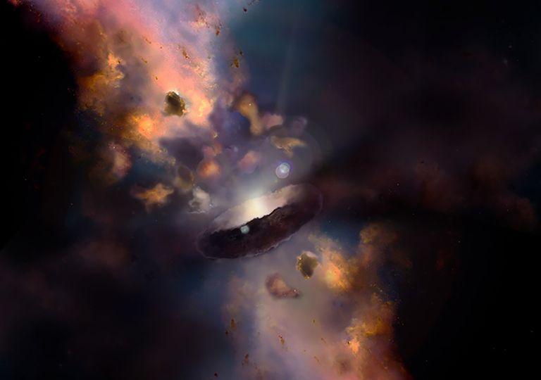 nubes agujero negro