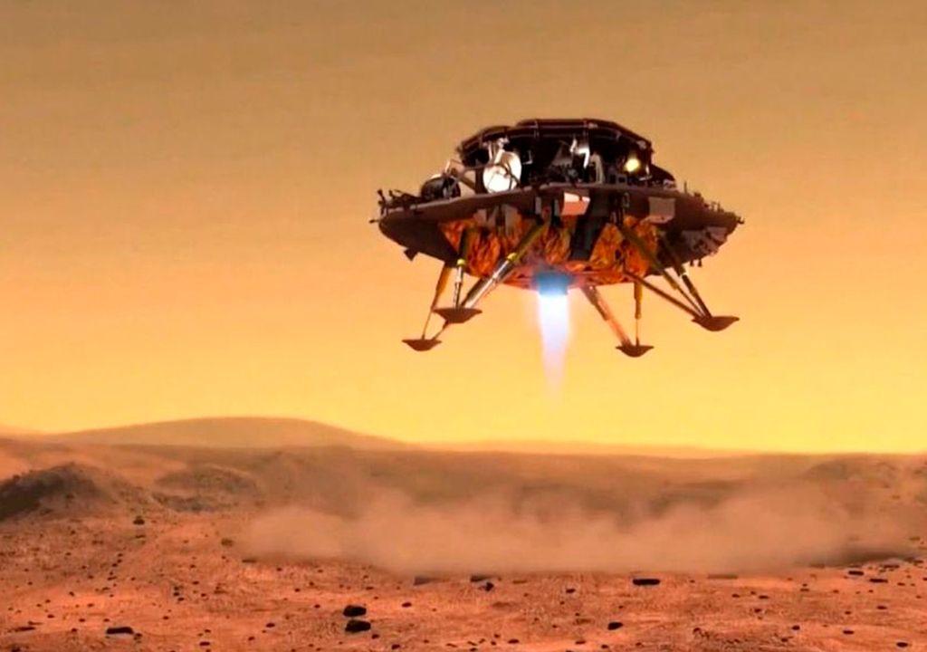 Recreación aterrizaje Marte