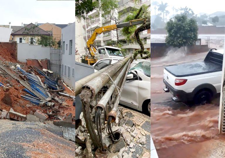 Chuva severa causa alagamentos em Curitiba
