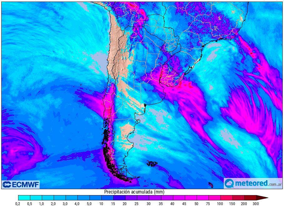 Lluvias Argentina Pronóstico ECMWF