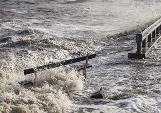 Ciclone extratropical promove avanço do mar no Sul e Sudeste do país