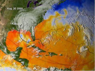 Ciclones tropicales de la estación de 2005 en la cuenca atlántica y la temperatura superficial del agua del mar: Imágenes para el recuerdo