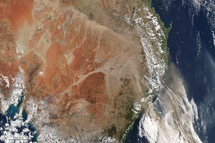 Cielos Polvorientos Y Llenos De Humos En Australia