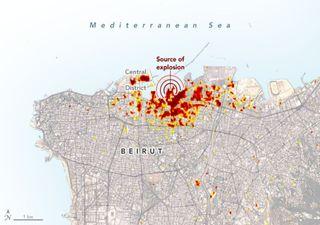 Científicos logran mapear los daños de la explosión en Beirut