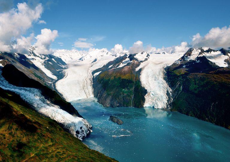 Fiorde deslizamento de terra catastrófico riscos alasca gelo icebergue mudanças clima