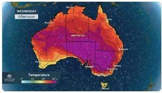 Ciertas zonas australianas sufren calores históricos
