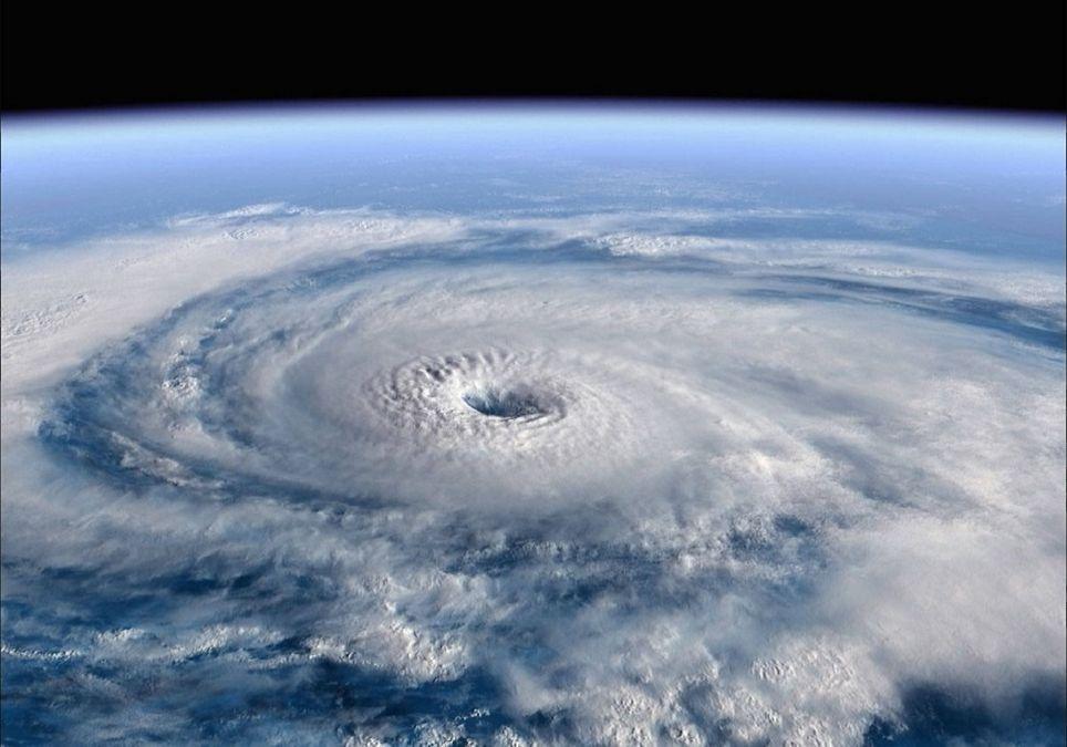 Huracán observado desde la Estación Espacial